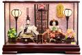 【雛人形】吉徳大光 「おひなさま」二人親王 ケース飾り(322-324)