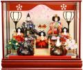 【雛人形】吉徳大光 「御雛」 三人官女・右大臣左大臣 七人ケース飾り(322-563)