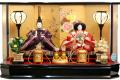 【雛人形】吉徳大光 「御雛」二人親王アクリル九角ケース飾り(322-928)