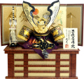【五月人形】武光作 「透かし紋様深彫鍬形 子供着用兜」収納飾り(3277)