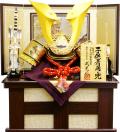 【五月人形】武光作 「立体大鍬形 着用兜」収納飾り(3282)