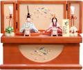 【雛人形】 吉徳大光 一秀作 木目込み人形「花ひいな 桃山雛」 親王収納飾り(336-543)