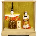 【雛人形】 吉徳大光 一秀作 木目込み「立雛 神雛」 ケース飾り(336-547)