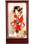 【羽子板】久月作 刺繍振袖 桃香ケース飾り(35021-1)