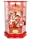 【雛人形】吉徳大光作 「吊るし雛」 ガラスケース飾り(351-861)