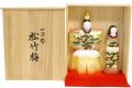 【雛人形】 一刀彫 「松竹梅 8.5寸」 立雛 親王飾り(3510-50-001)