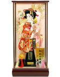 【羽子板】久月作 初音振袖 扇 鳳苑 ケース飾り(35160-1)