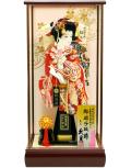 【羽子板】久月作 初音振袖 花 鳳苑 ケース飾り(35160-2)