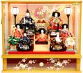 【雛人形】桜雅作 七人「御雛」 ケース飾り (35711)