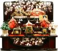 ポイント3倍!【雛人形】 千匠作 天使の十二単衣「雛ごよみ」三段飾り(37N-229B)