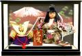 【五月人形】久月作 子供大将「兜曳」 武者人形ガラスケース飾り(396)