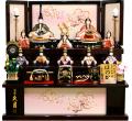 【雛人形】久月 木村綾作 「ほのか 結香雛」十人 木目込み 三段収納飾り(39649)