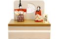 【雛人形】 久月 一秀作 木目込み 「立雛 親王」 コンパクト収納飾り(39709)