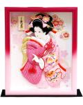 【羽子板】久月作 かのこ友禅 額入り 壁掛けケース飾り(42039-1)