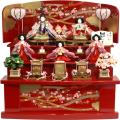 【雛人形】 千匠作 「雛ごよみ」 三段収納飾り(45A-45)