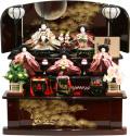 【雛人形】 千匠作 「雛ごよみ」 三段収納飾り(45A-47)