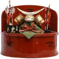 【五月人形】玉凰作  正絹「伊達政宗」 彫金兜 収納飾り(5-28901)