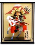 【五月人形】吉徳大光作 武者人形「馬上大将」ガラスケース飾り(503-505)