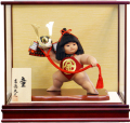 【五月人形】吉徳大光作 「金太郎 童(わらべ)」子供大将 武者人形ケース飾り(503-261)