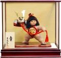 【五月人形】吉徳大光作 「金太郎 童(わらべ)」子供大将 武者人形ケース飾り(503-255)