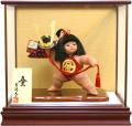 【五月人形】吉徳大光作 「金太郎 童(わらべ)」子供大将 武者人形ガラスケース飾り503-265