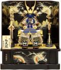 【五月人形】吉徳大光作 「正絹紺絲縅 鎧8号」高床台飾り(518-079)