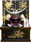 【五月人形】吉徳大光 「正絹絲縅 上杉謙信 着用兜」収納飾り(526-773)
