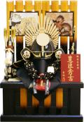 【五月人形】貴翔作 「豊臣秀吉 着用兜」 収納飾り(526)