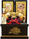 【五月人形】吉徳大光作 「伊達政宗 兜」収納飾り(530-904)