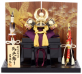 【五月人形】吉徳大光作 「徳川家康兜」二曲屏風平飾り(536-737)