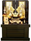 【五月人形】吉徳大光作 正絹「立体龍 兜」収納飾り(536-915)