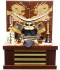 【五月人形】吉徳大光作 正絹「伊達政宗 着用兜」収納飾り(536-954)
