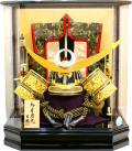 【五月人形】吉徳大光作 「上杉謙信・陣羽織付き 着用兜」 アクリルケース飾り(537-274)