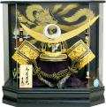 【五月人形】吉徳大光作 正絹糸縅「上杉謙信 着用兜」 アクリルケース飾り(537-297)