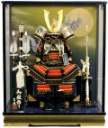 【五月人形】吉徳大光作 「龍頭付き兜 御鎧」 ケース飾り(537-362)