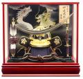 【五月人形】吉徳大光作 正絹「伊達政宗 着用兜」 ケース飾り(537-821)