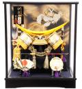【五月人形】吉徳大光作 「伊達政宗兜」ケース飾り(538-701)