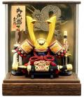 【五月人形】吉徳大光作 「長鍬兜」アクリルケース飾り(540-912)
