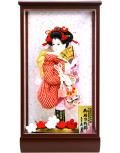 【羽子板】久月作 かのこ友禅 桃香 ケース飾り(55020-1)