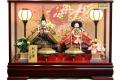 【雛人形】久月作 「よろこび雛」二人親王 ケース飾り (5898)