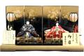 【雛人形】吉徳大光 会津塗「伝統紋様裂地 御雛」 二人親王平飾り(605-960)