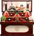 【雛人形】吉徳大光 「花ひいな」五人 収納式三段飾り(606-727)