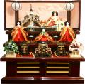 【雛人形】吉徳大光 伝統紋様束帯十二単「御雛」五人 三段飾り(606-910)
