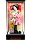 【羽子板】久月作  桜刺繍 薄桃 舞美ケース飾り(65070-1)