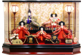 【雛人形】久月作 「よろこび雛」五人 アクリルケース飾り (65338)