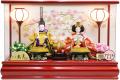 【雛人形】久月作 「よろこび雛」二人親王 アクリルケース飾り (65404)