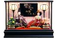 【雛人形】久月作 「よろこび雛」二人親王 ケース飾り (65619)