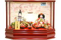 【雛人形】久月作 「よろこび雛」二人親王 ケース飾り (65777)