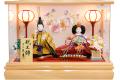 【雛人形】久月作 「よろこび雛」二人親王 アクリルケース飾り (65902)