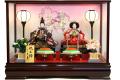 【雛人形】久月作 「よろこび雛」二人親王 ケース飾り (65904)